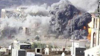 تصویر از حملات توپخانهای رژیم سعودی به منطقه «الضبیانی» در یمن